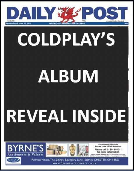DAILY POST - Coldplay's album reveal